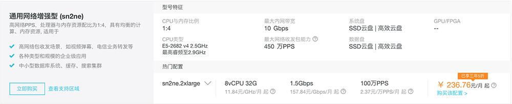 通用网络增强型 (sn2ne)236.76元/月