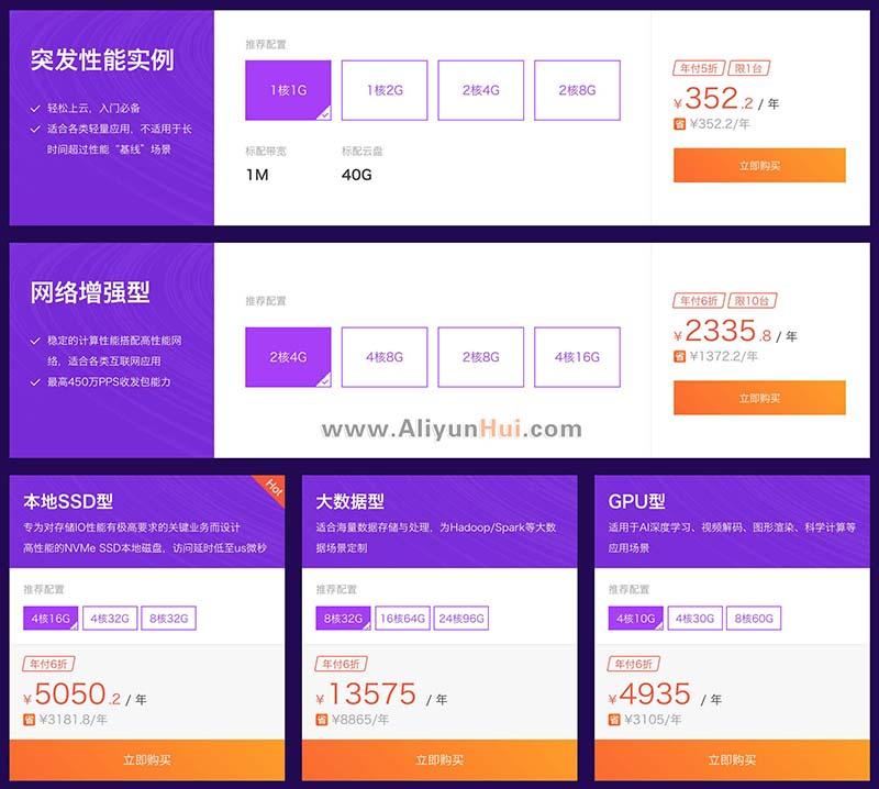 阿里云2018采购季云服务器5折优惠